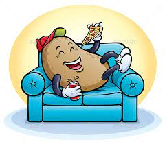 Laughing Couch Potato Relaxing by RodSavely   GraphicRiver