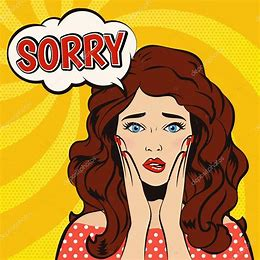 Image result for Cartoon Girl Saying Sorry