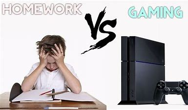 Image result for no homework want play a game